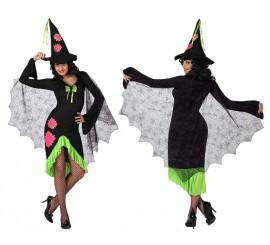 Disfraz de Bruja parches para mujer en varias tallas