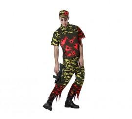 Disfraz de Militar Zombie para hombre