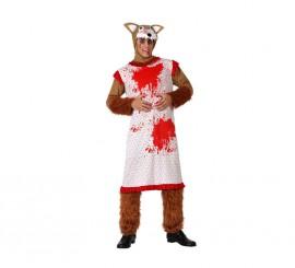 Disfraz de Lobo disfrazado de Abuelita para hombre en varias tallas