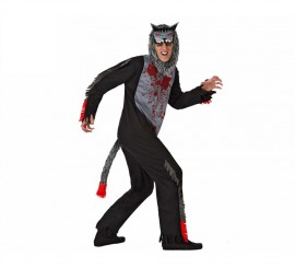 Disfraz de Lobo Sangriento para hombre en varias tallas