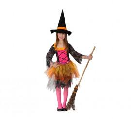 Disfraz de Brujita colores para niñas