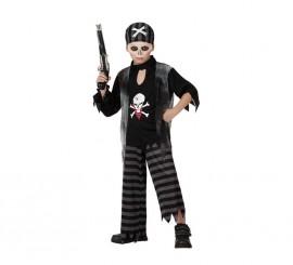Disfraz de Pirata Fantasma para niños en varias tallas