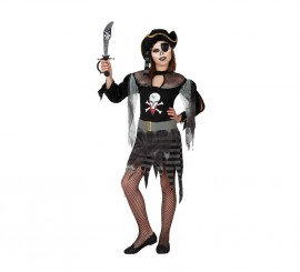 Disfraz de Pirata Fantasma para niñas en varias tallas