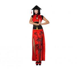 Disfraz de China rojo para mujer en varias tallas