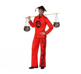 Disfraz de Chino rojo para hombre en varias tallas