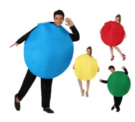 Disfraz de Ficha del Parchís 4 colores surtidos para adultos