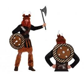 Disfraz de Vikingo con escudo para hombre