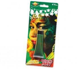 Tubo de 20 ml. de maquillaje verde en crema