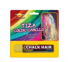 Blister Barra de Tiza para el pelo de color Amarilla