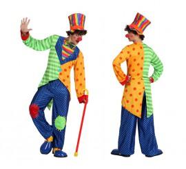 Disfraz de Payaso Divertido para hombre en varias tallas