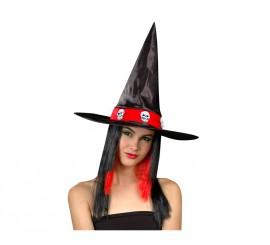 Sombrero de Bruja con peluca para Halloween