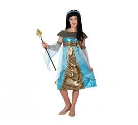 Disfraz de Egipcia azul para niñas en varias tallas