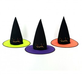 Sombrero de Bruja para Halloween 3 colores surtidos