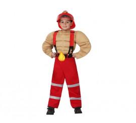 Disfraz de Bombero Musculoso para niños