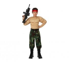 Disfraz de Militar Musculoso para niños
