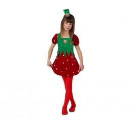 Disfraz de Fresa para niñas