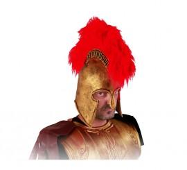 Casco Romano de latex dorado con cresta roja