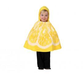 Disfraz o Poncho de Limón talla única de bebé