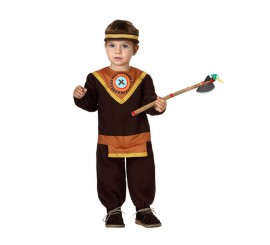 Disfraz de Indio marrón para bebés