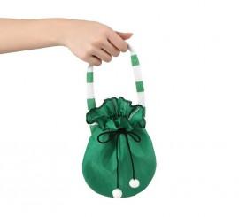 Bolso verde con borlas