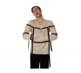 Camisa de Fuerza o de loco talla M-L para Halloween