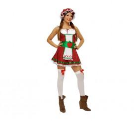 Disfraz de Manzanita para mujer. Talla M-L