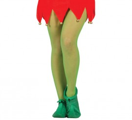 Zapatos o Babuchas verdes de Elfo o Duende de látex