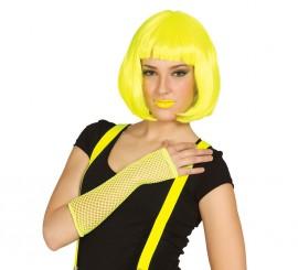 Guante de rejilla amarillo neón de Punky
