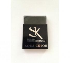 Cajita de Maquillaje Profesional al agua Negro de 12 gr.