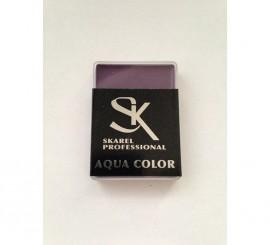 Cajita de Maquillaje Profesional al agua Violeta de 12 gr.