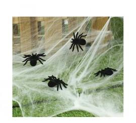 Blister de 2 Arañas de 10 cm para Halloween