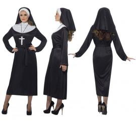 Disfraz de Monja color Negro para Mujer