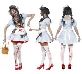 Disfraz de Dorothy Zombie para mujer