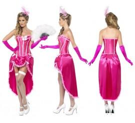 Disfraz de Bailarina de Burlesque Rosa para Mujer