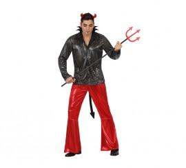Disfraz para hombre de Demonio Disco de Halloween