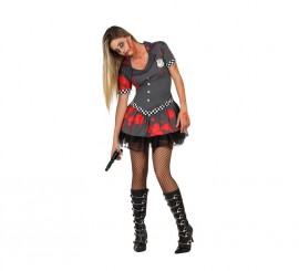 Disfraz de Policía Zombie sexy para mujer