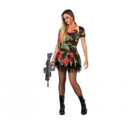 Disfraz de Militar Zombie sexy para mujer