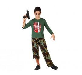 Disfraz para niño de Militar Zombie