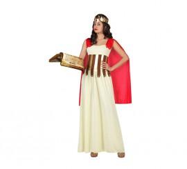 Disfraz de Diosa Griega con capa roja para mujer en varias tallas