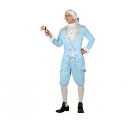 Disfraz de Cortesano de Época azul para hombre