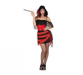 Disfraz de Cabaretera rojo para mujer