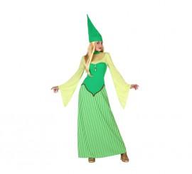 Disfraz de Duende verde Irlandesa para mujer