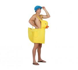 Disfraz de Patito de Goma amarillo para adultos