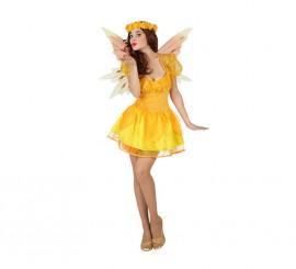 Disfraz de Hada Verano amarilla para mujer