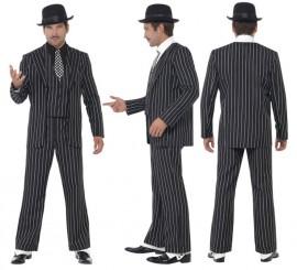Disfraz de Capo Gánster Traje a rayas para hombre