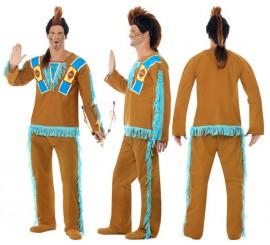 Disfraz de Indio Mohicano para hombre