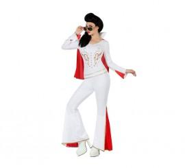 Disfraz de Rockera Elvis para mujer