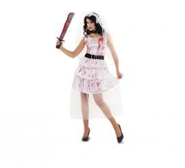 Disfraz de Novia Zombie para mujer talla M-L