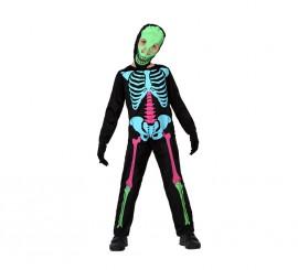 Disfraz de Esqueleto Multicolor para niños en varias tallas