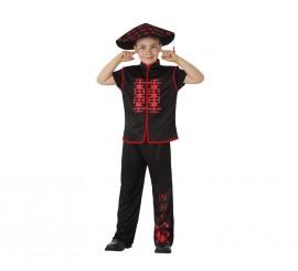 Disfraz de Chino negro para niños en varias tallas